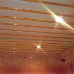 Точечный светильник в реечный потолок