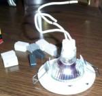 точечный светльник вид сзади